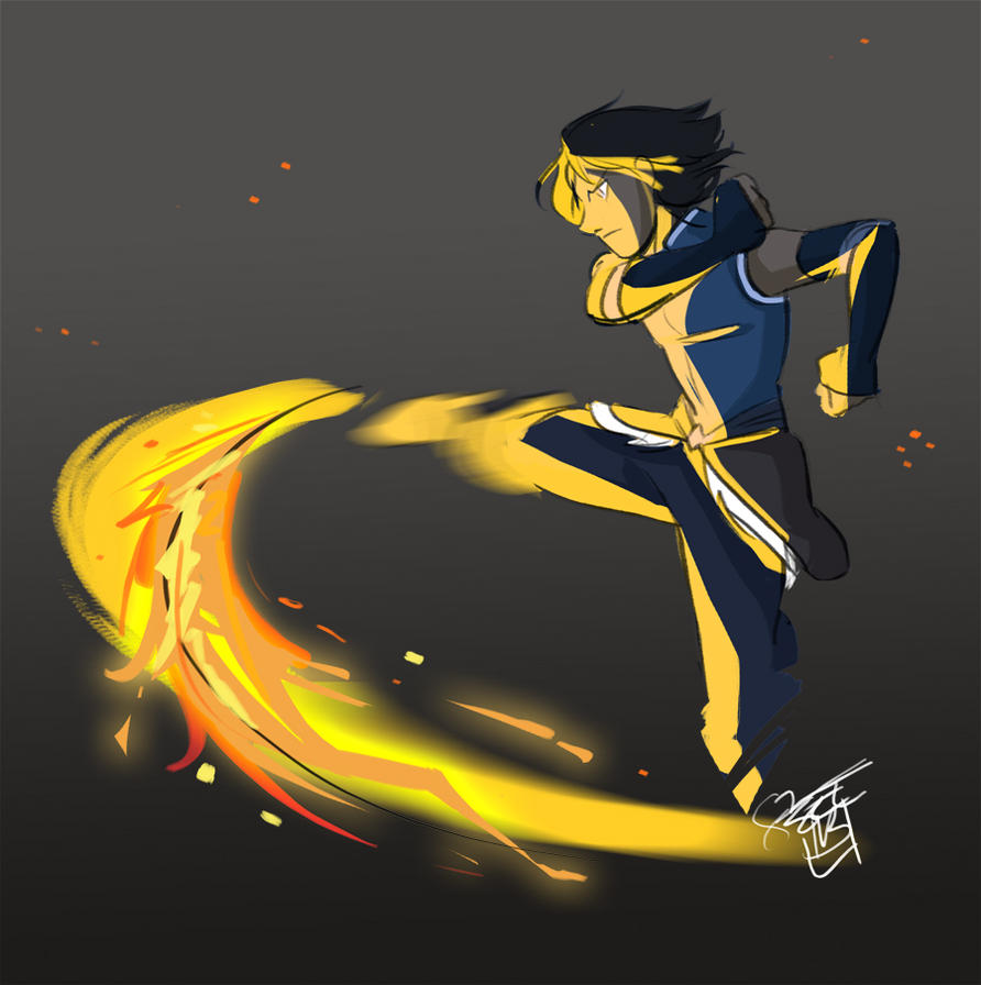 Late Night Firebending by ComickerGirl