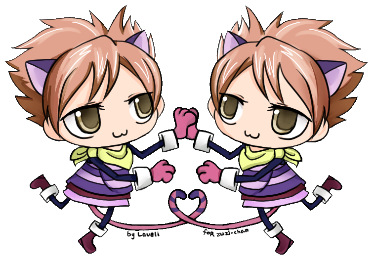 Cheshire Hikaru and Kaoru by lavenly on DeviantArt  Cheshire Hikaru...