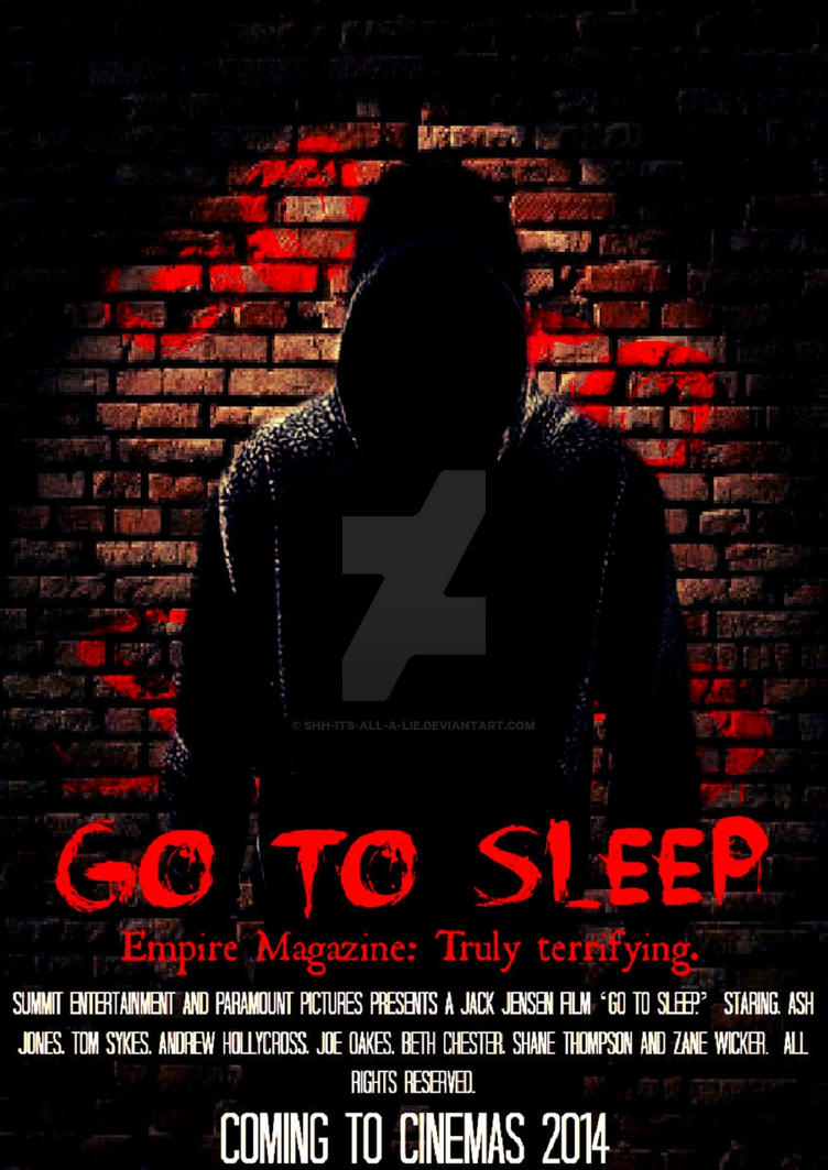 Jeff The Killer Film Poster 'Go To Sleep' by Shh-Its-All-A-Lie