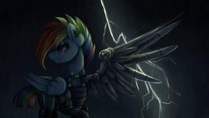 {MLP} Fallout Rainbow Dash Wallpaper full HD