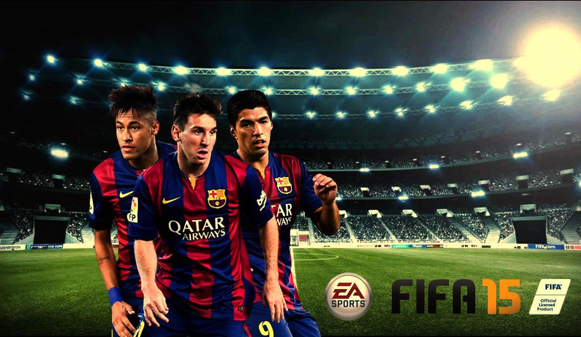 FIFA 15 Barcelona Custom Wallpaper By RakaGFX