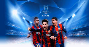 FC Barcelona 'Road to Berlin' 2015 Wallpaper