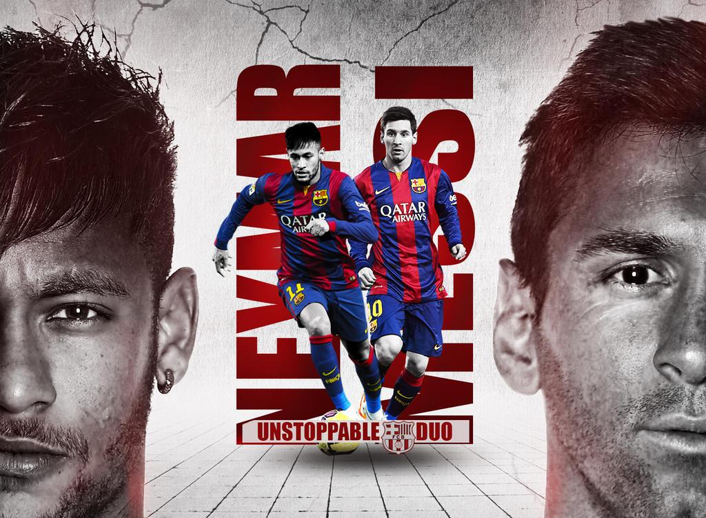 Neymar And Messi Wallpaper FC Barcelona Duo By RakaGFX
