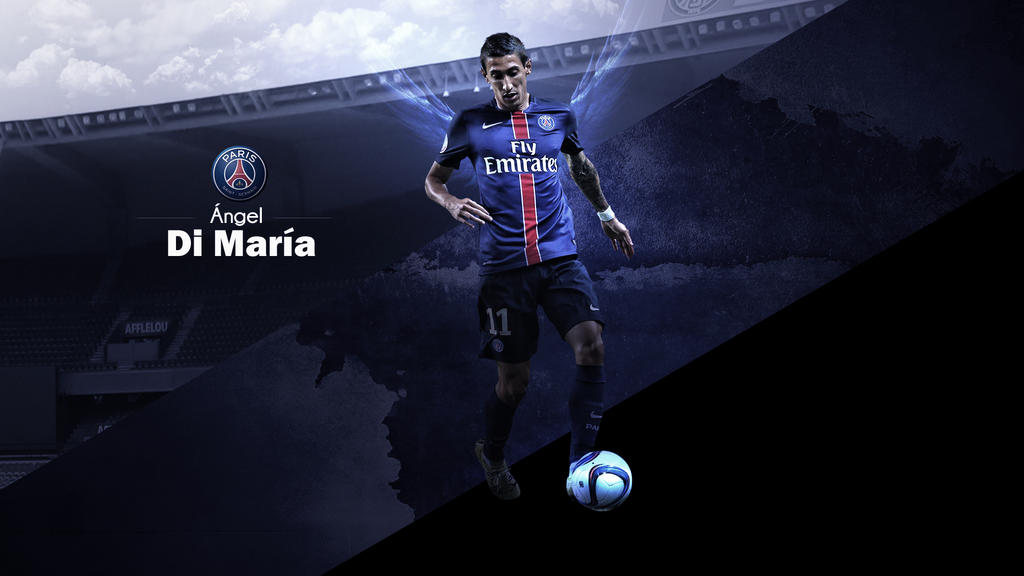 Angel Di Maria PSG Wallpaper By RakaGFX
