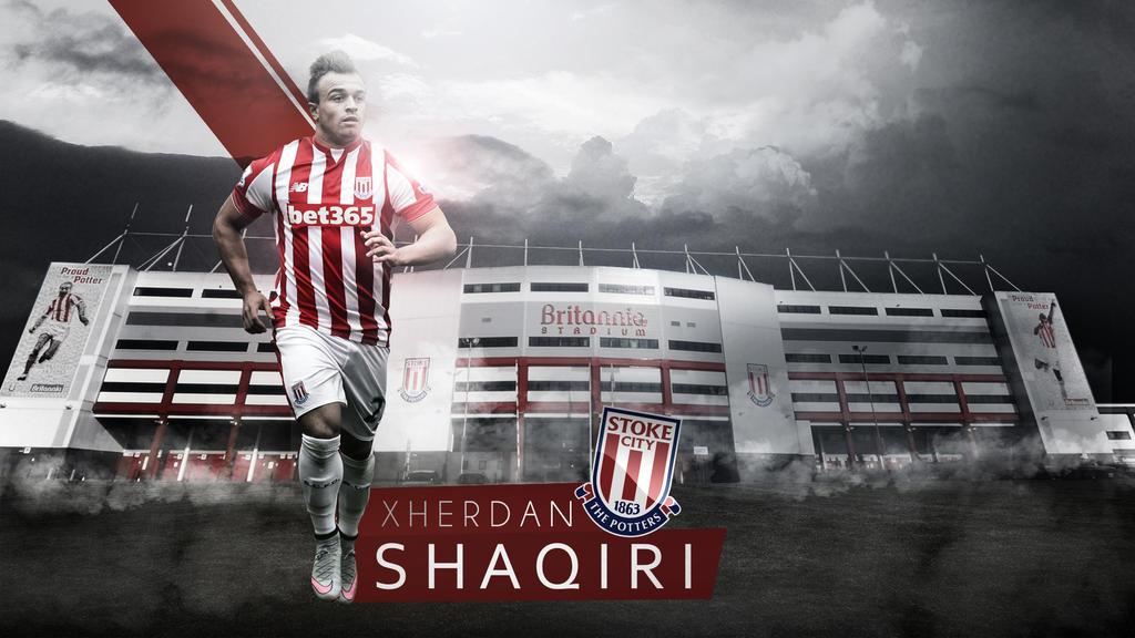Xherdan Shaqiri Stoke City Wallpaper By RakaGFX On DeviantArt