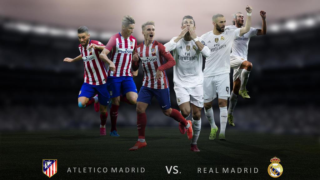 Atletico Madrid Vs Real Madrid: Atletico Madrid Vs. Real Madrid Wallpaper 2015 By RakaGFX