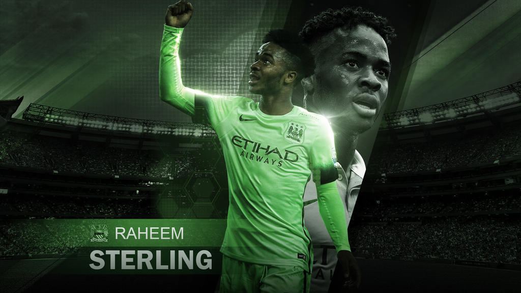 Raheem Sterling Wallpaper Manchester City By Rakagfx On