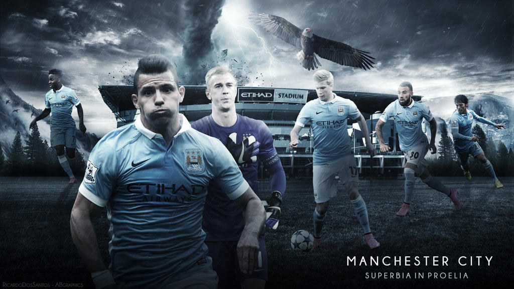 Man City Wallpapers 2015: Manchester City 2015/16 Wallpaper (feat. 4le88) By RakaGFX