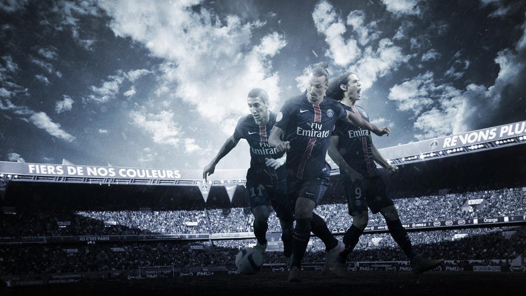 Paris Saint Germain 2015 16 Wallpaper V2 By RakaGFX