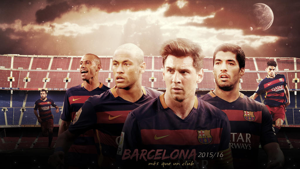 FC Barcelona 2015 2016 Wallpaper V2 By RakaGFX