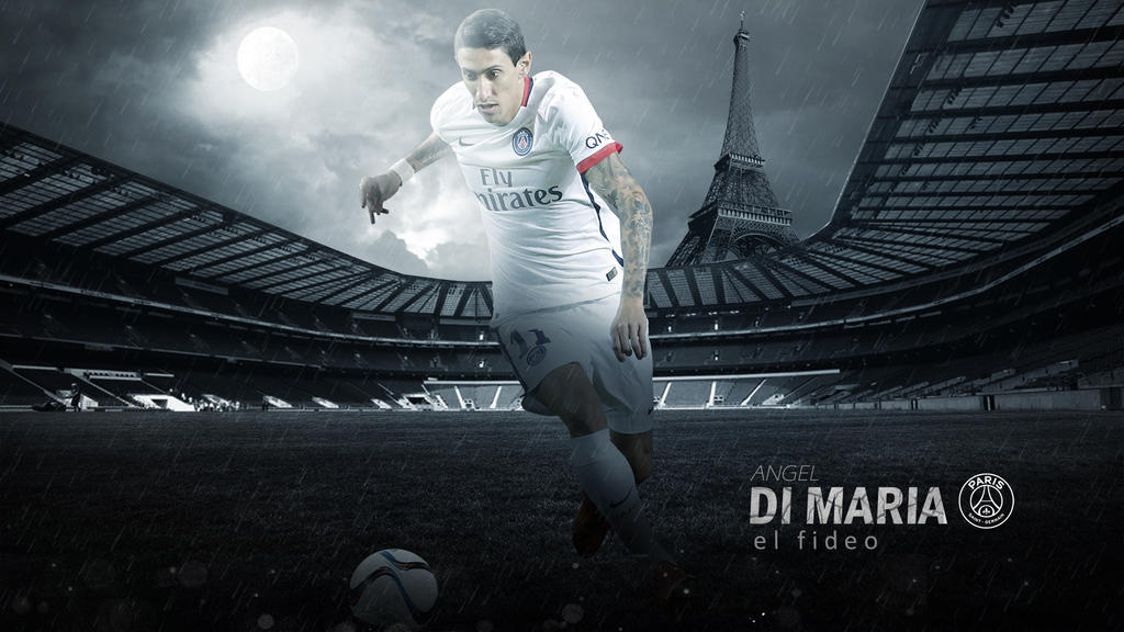 Angel Di Maria PSG Wallpaper 2015 2016 By RakaGFX