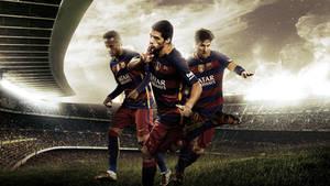 Neymar Suarez Messi - 2015/16 Wallpaper