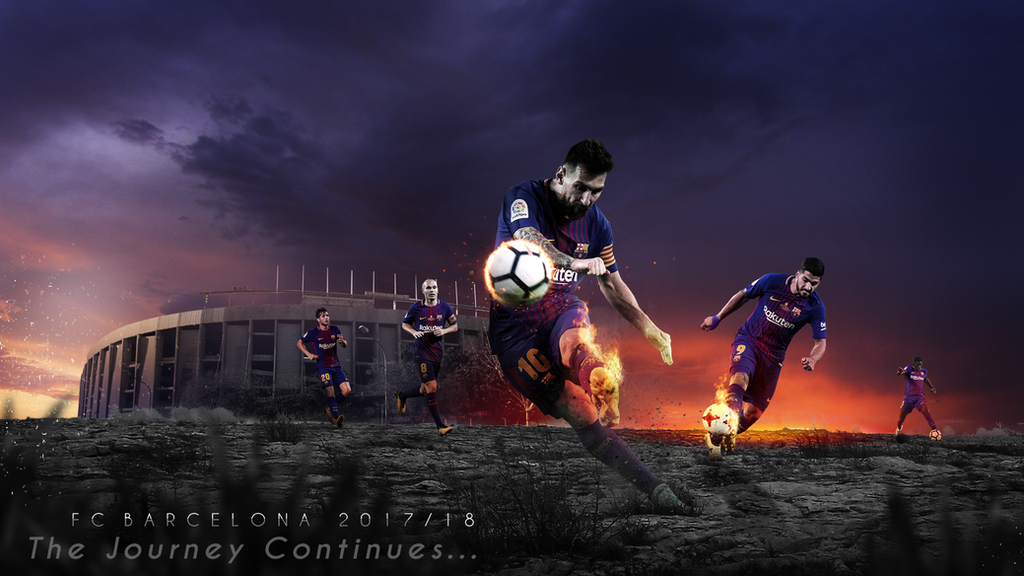 FC Barcelona 2017 18 Wallpaper By RakaGFX