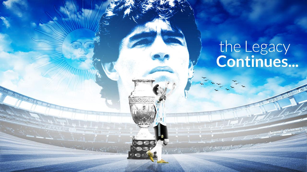 Lionel Messi/Diego Maradona Wallpaper 2021