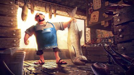 Greek Fishmonger 2014