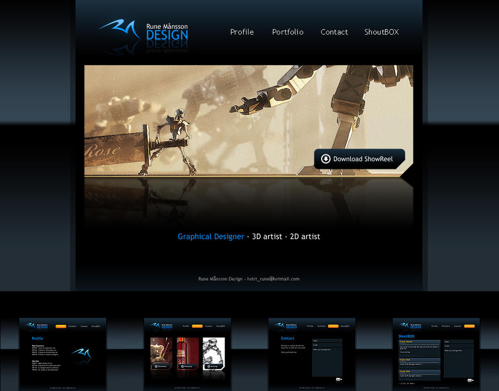 Homepage Design by MaansRune