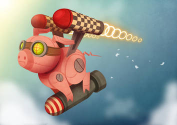 MONSTERS and MONSTERS  PIGBOT by Igovictor