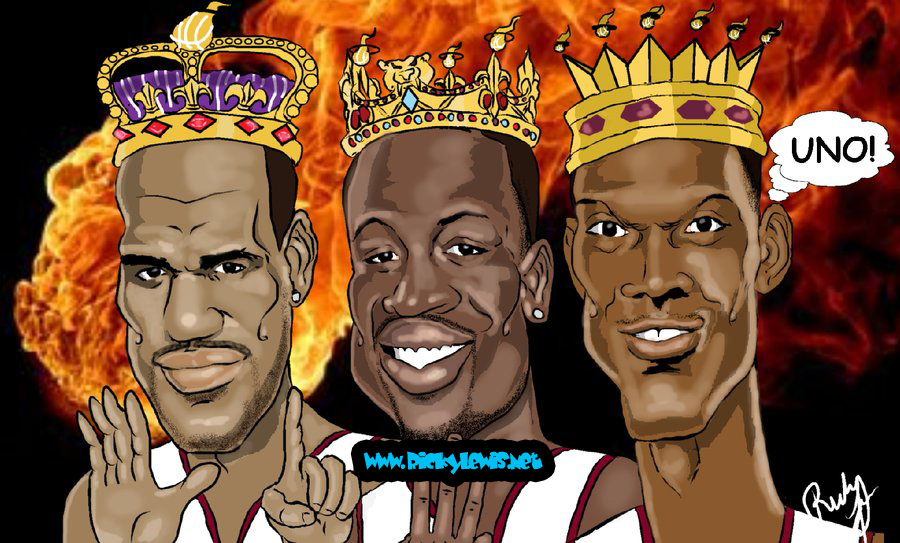 The Three Kings Miami Heat by guyman80