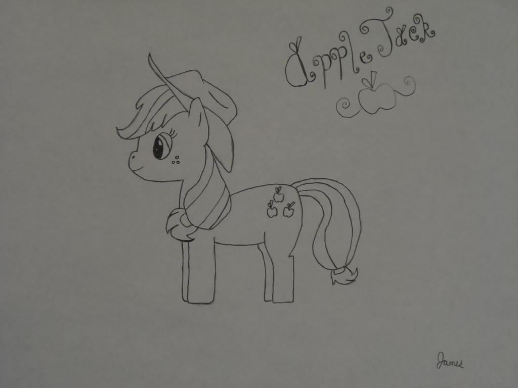 AppleJack Drawing by JamesThunder