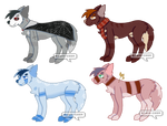:. Collab Wolf Adopts - 1/4 OPEN .: by boba-deer