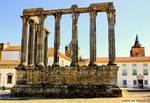 Temple of Diana in Evora Portugal