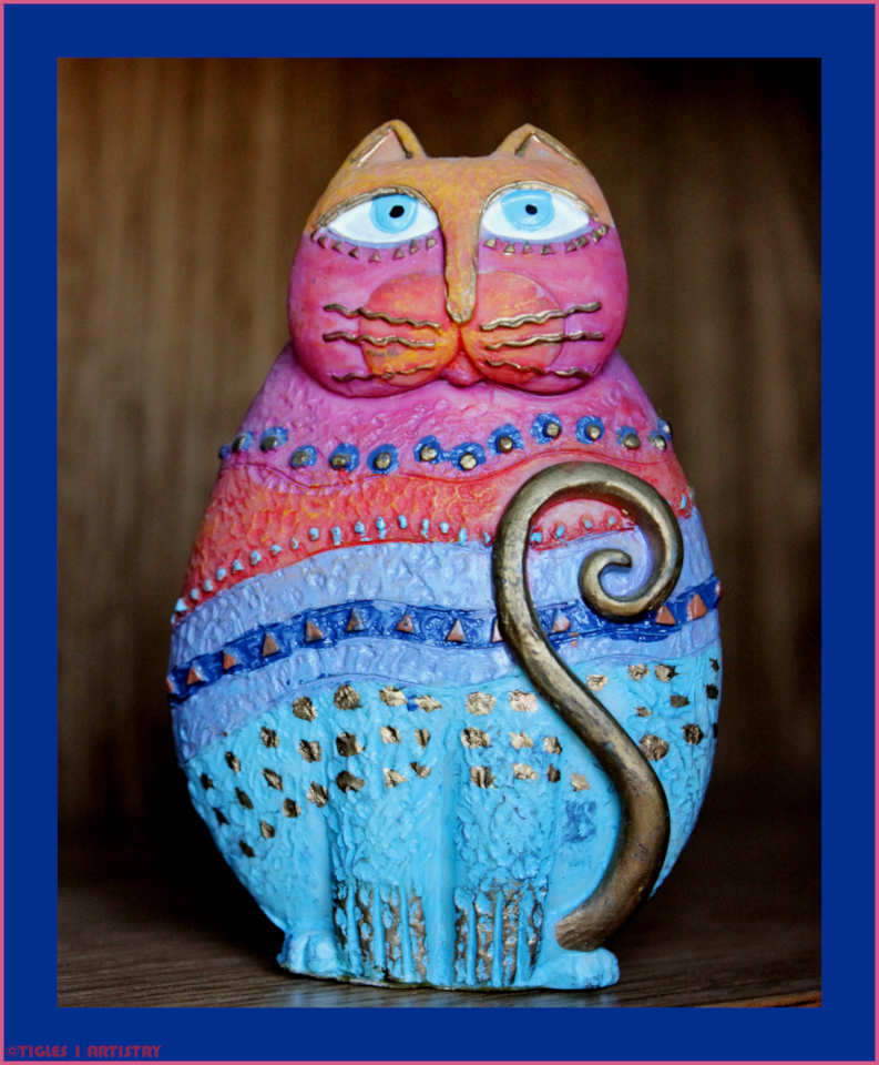 Cat-O-Log Blue and Pink by Tigles1Artistry