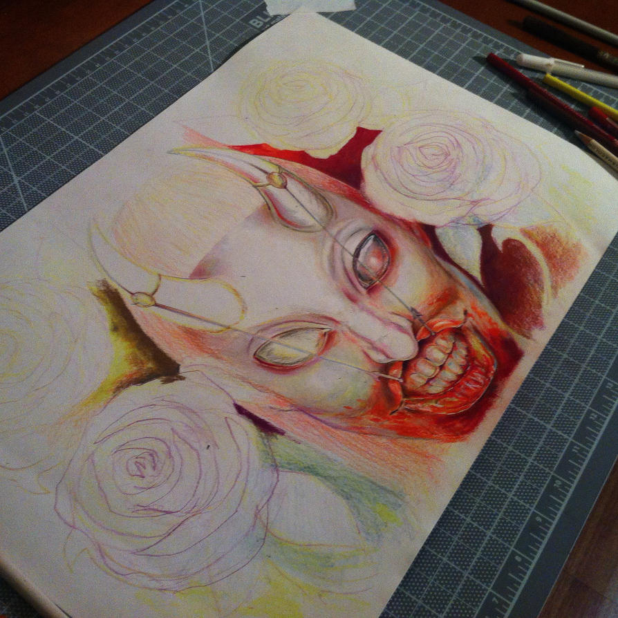 Amongst The Roses (WIP) II by ardentfem