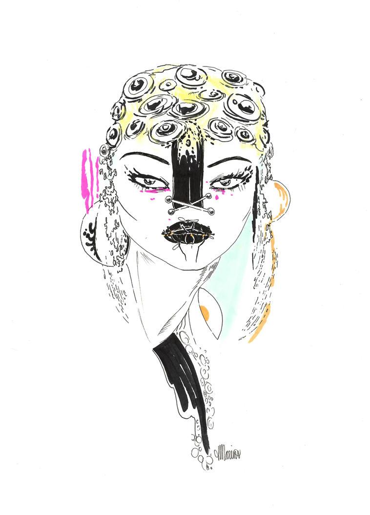 Ink Girl by ardentfem