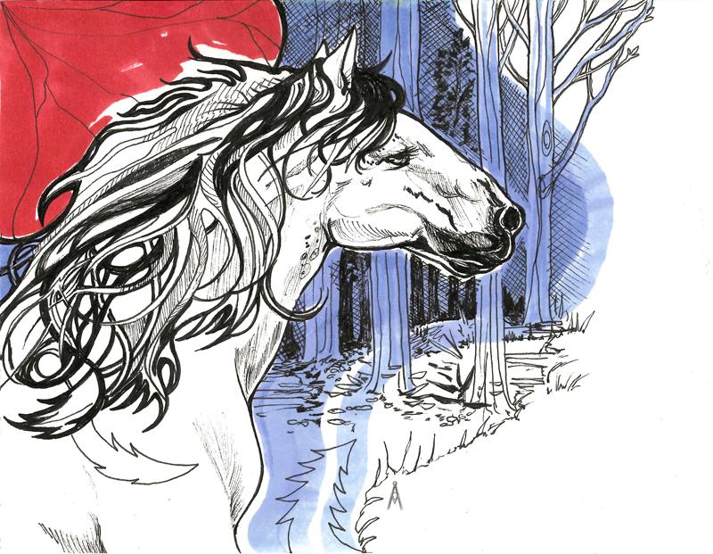 White Horse by ardentfem