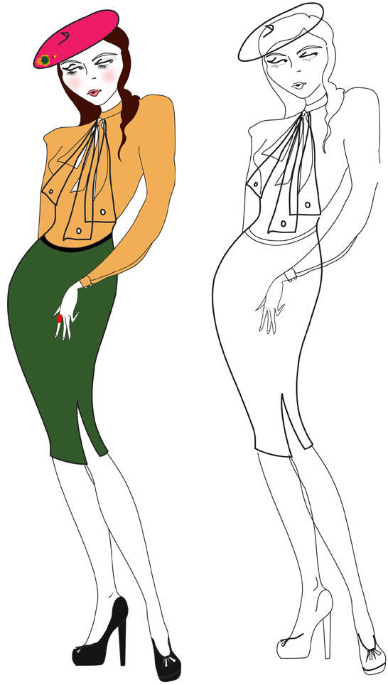 Line Art Fashion : Fashion line drawing by ardentfem on deviantart