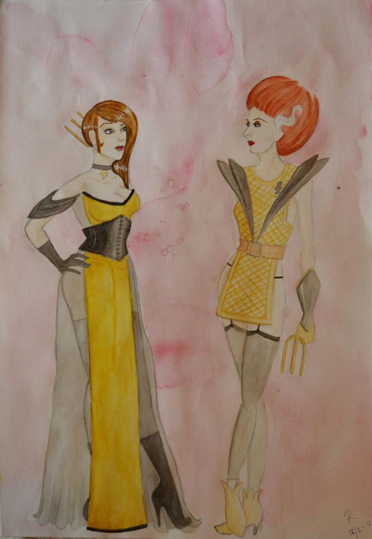 Rocky Horror Dresses - Water colour by Regular-Frankie-fan