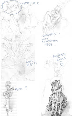 Never-finished sketches - part 1