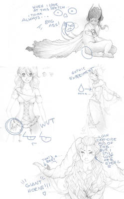 Never-finished sketches - part 2