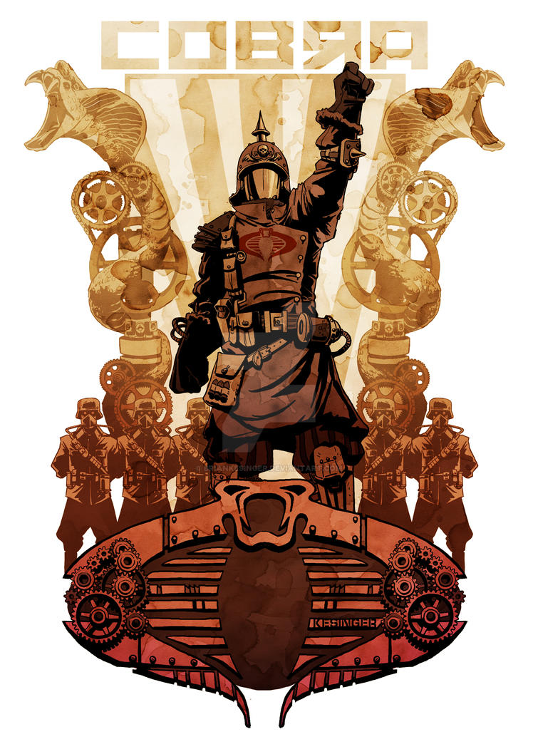 steampunk cobra commander by BrianKesinger