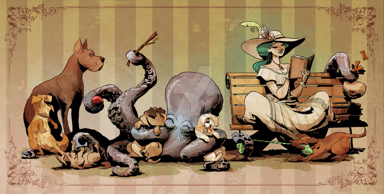 otto and the dog park by BrianKesinger