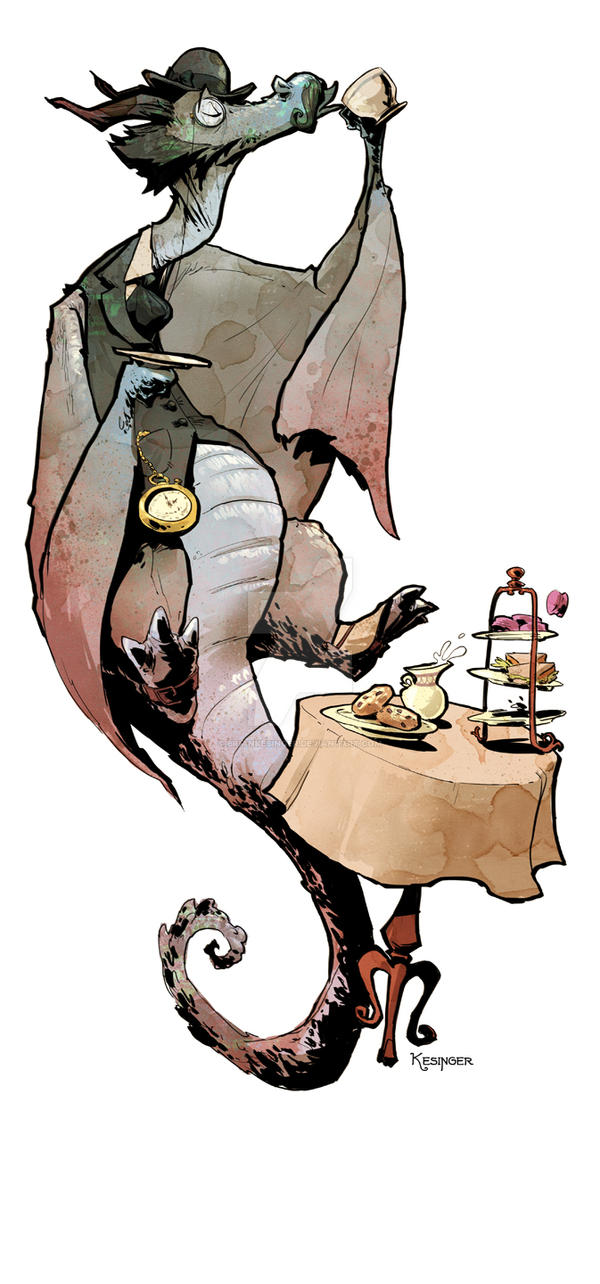 Lord Earl the Grey Dragon by BrianKesinger