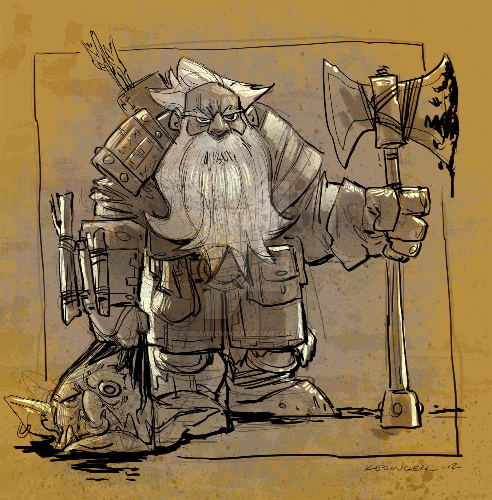 random dwarf by BrianKesinger