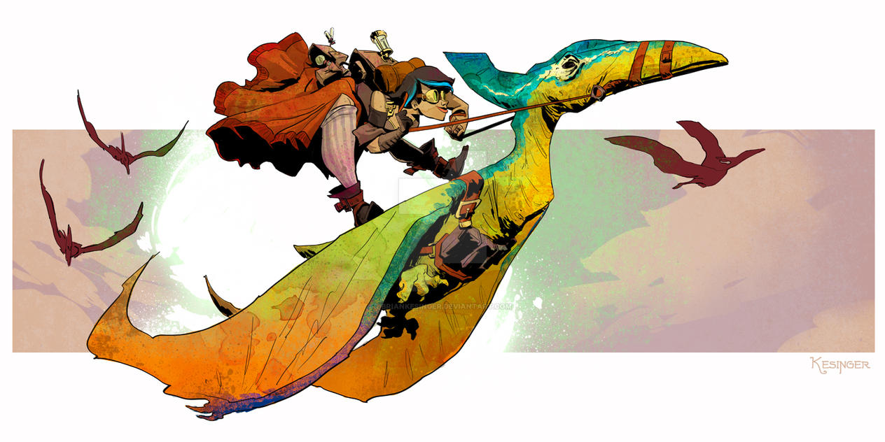 Pteranodon rodeo by BrianKesinger