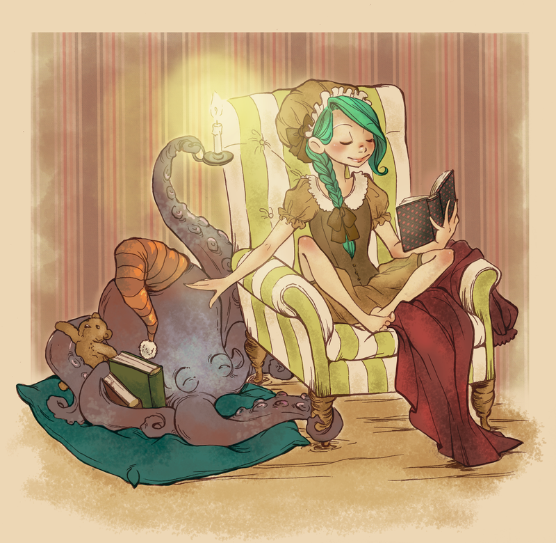 Even A Cephalopod Needs A Goodnight Story By K by BrianKesinger