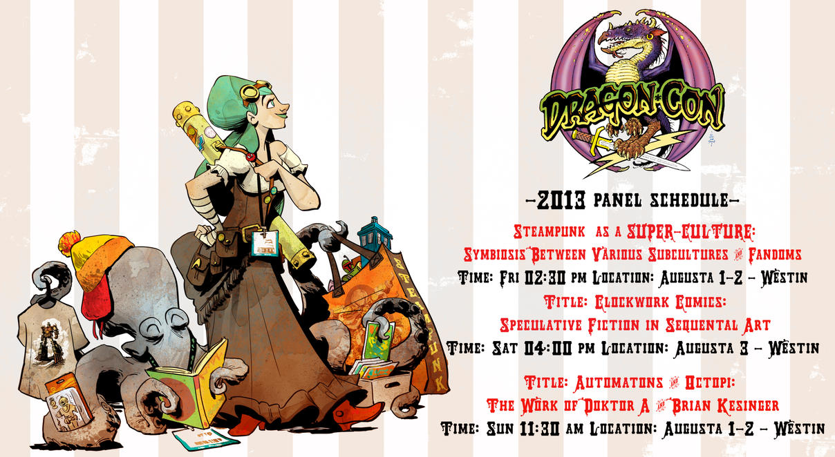 my dragon con panel schedule by BrianKesinger