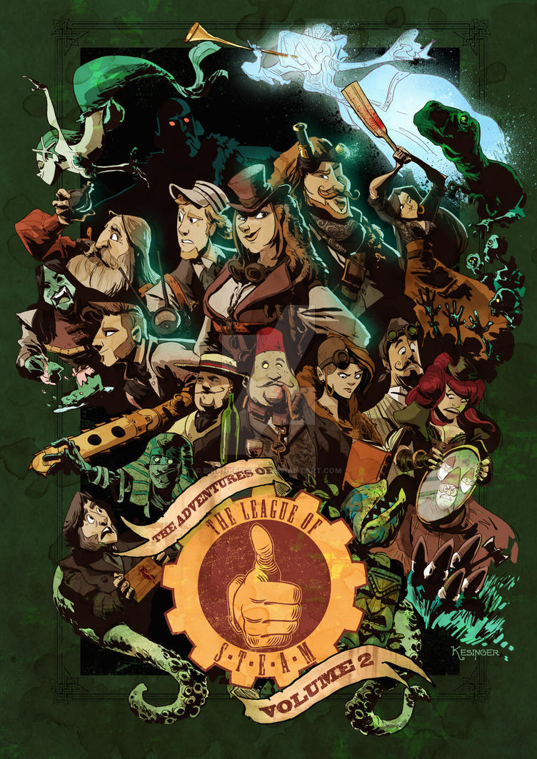 league of steam season 2 dvd cover by BrianKesinger