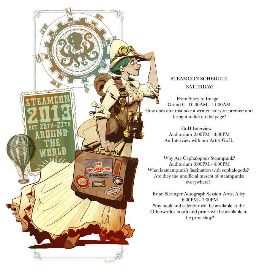 steamcon schedule by BrianKesinger