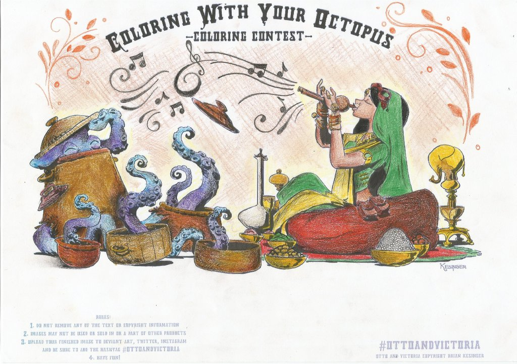 Coloring With Your Octopus  Coloring Contest  2014 by BrianKesinger