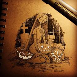 sally inktober sketch by BrianKesinger