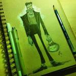frankenstein inktober sketch