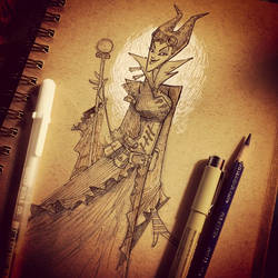 steampunk maleficent by BrianKesinger