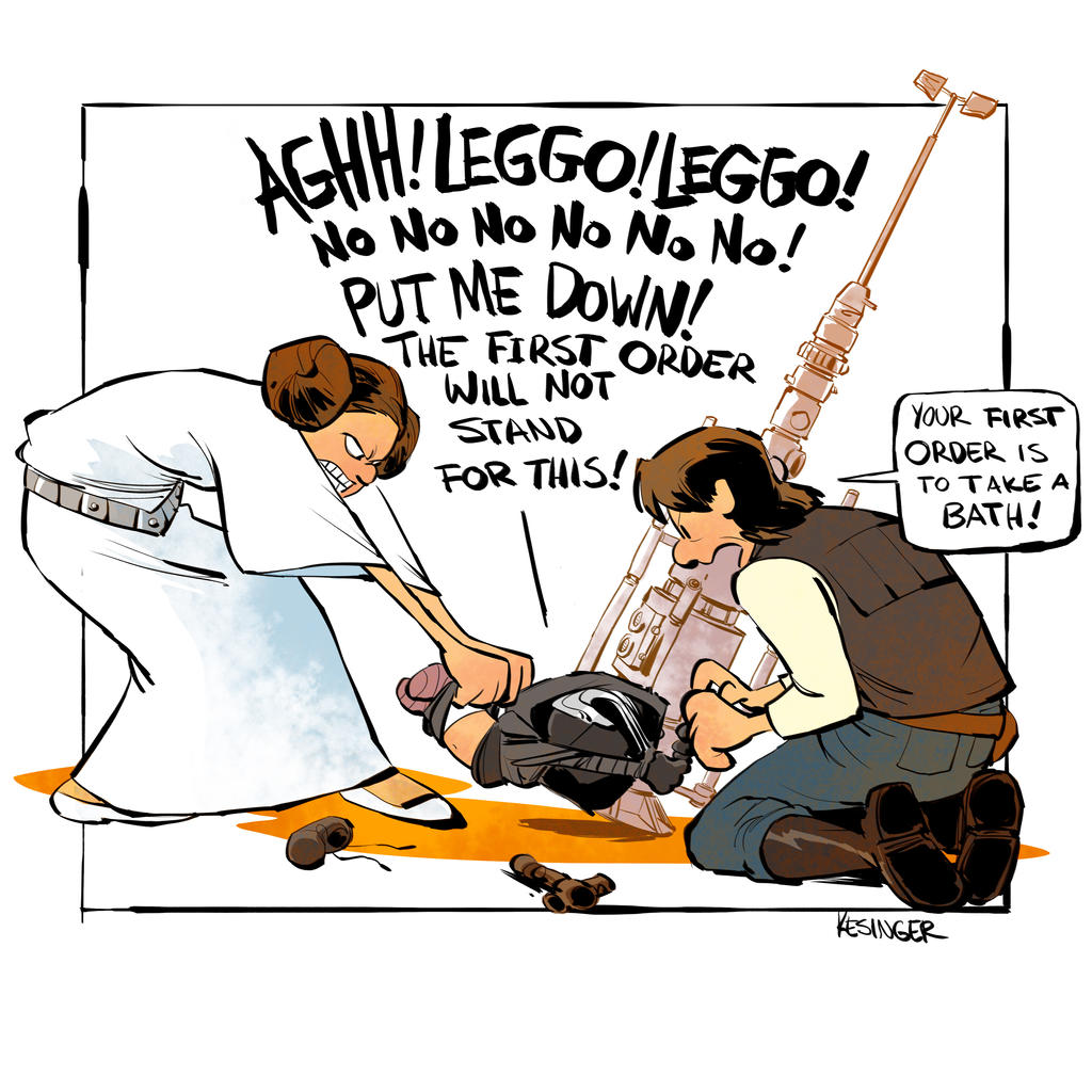 Bath time for kylo by BrianKesinger