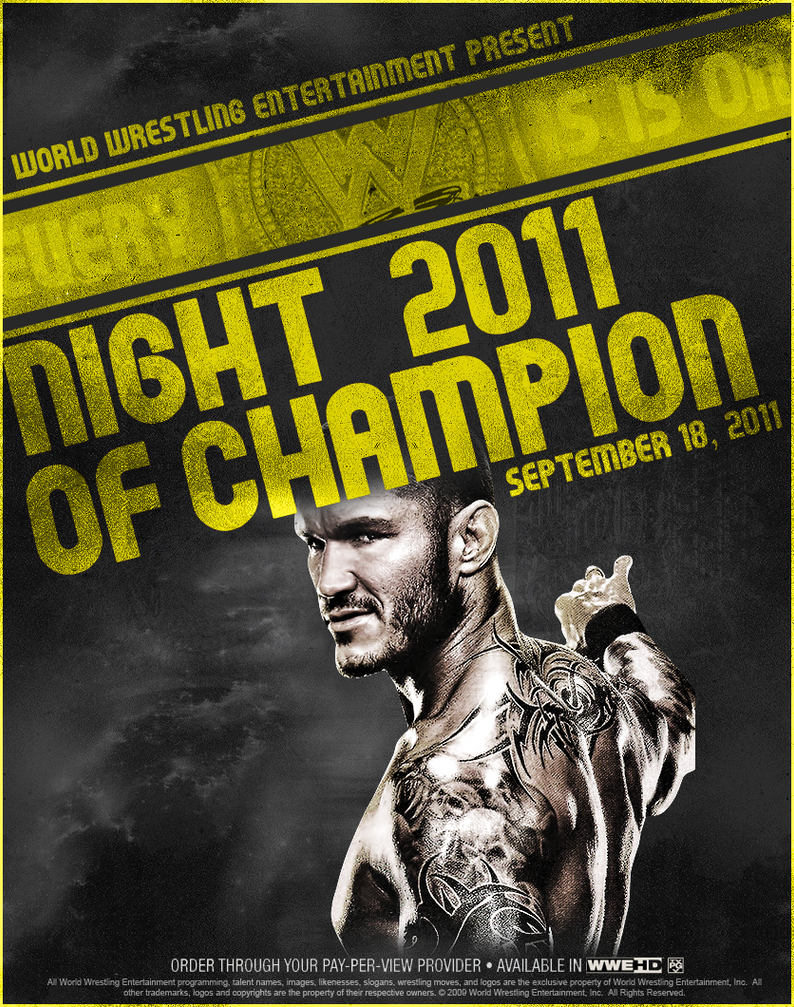 NIGHT OF CHAMPIONS POSTER by MOH2011