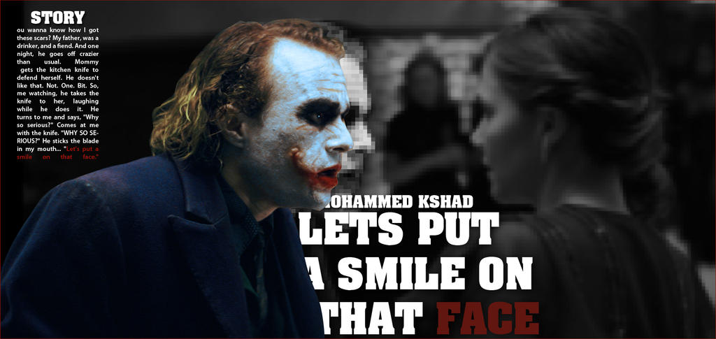 Joker Lets Put a Smile on That Face by MOH2011 on DeviantArt