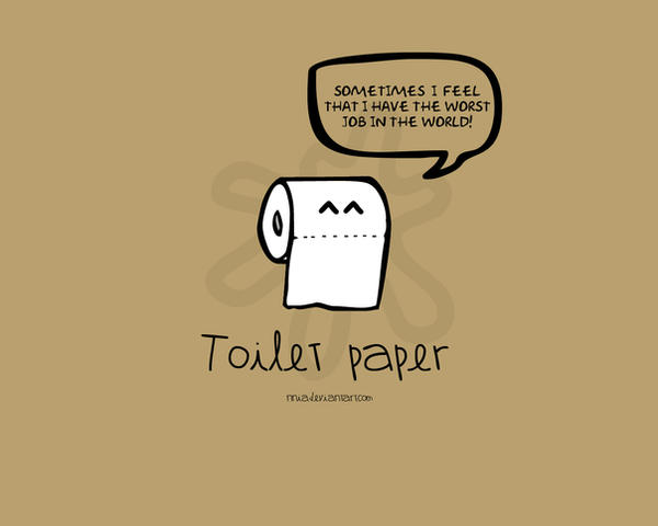 Toilet paper by nnia